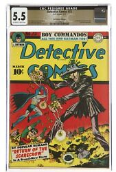 Detective Comics 73 First And Only Golden Age Scarecrow Cgc 5.5 Promise Pedigree