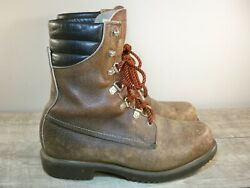 Vintage Red Wing Irish Setter 859 Menand039s Work Hunting Insulated Boots Size 10 D