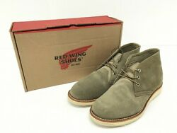Used Good Redwing Red Wing 3144 Chukka Boots Suede Leather Beige 9.5d 27.5cm N
