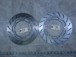 1986 Yamaha Fzx700 Fazer Y327-1 Left And Right Front Brake Rotor Disc Set