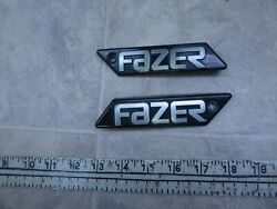 1986 Yamaha Fzx700 Fazer Y327-1 Left And Right Side Emblem Cover Set