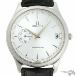 Zenith Elite 90/01.0040.680 Automatic Cal.680 Silver Dial Leather Men's H2091