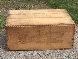 Vintage Sunsweet Large Prunes Wood Crate And Lid Shipping Box California Boston Ma