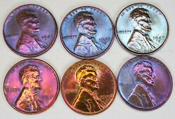 1946-1947 P D S Lincoln Wheat Cent Penny 2 Sets Awesome Looking Set Of Coins