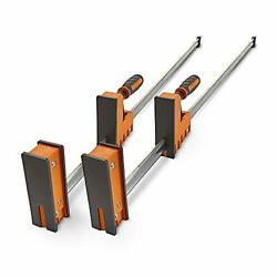 Bora 40 Parallel Clamp Set 2 Pack Of Woodworking Clamps With Rock-solid Even...