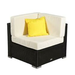 1 Pcs Home Furniture Patio Set Rattan Wicker Corner Sofa Sectional Couch Yard Us