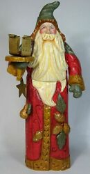 2000 House Of Hatten 16 Santa Claus Candle Holder, Denise Calla