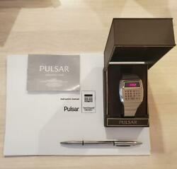 Pulsar Calculator Time Computer Led 1975 / Box Style And Booklet Battery New Men