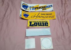 Vintage Nfl San Diego La Chargers Window Bumper Stickers Sticker Collection Lot