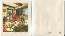 Vintage Victorian Christmas Cook Kitchen Stove Dinner Turkey And 1 Pine Cones Card