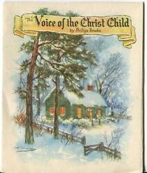 Vintage Christmas Story Voice Of Christ Child Cottage Angel Greeting Art Card