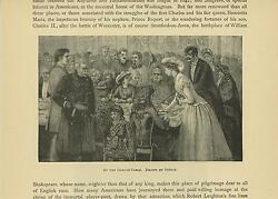 Antique Victorian Woman Man Fancy Attire Dress Game Gaming Table Old Art Print