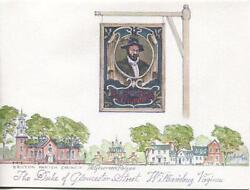 Vintage Williamsburg Virginia Raleigh Tavern Sign Print And 1 Horse Mare Foal Card
