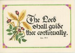 Vintage Wheat Grain Berry Scripture Bible Verse Lord Print Horse Mare Foal Card