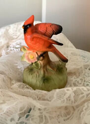 Chadwick Miller 1972 Vintage Music Box 6 Red Cardinal Bird Winds And Plays
