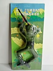 Vintage Army Combat Commando Light And Sound Toy Taiwan Nos
