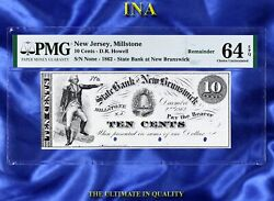 Ina Nj Millstone Dr Howell State Bank At New Brunswick 10-c. Pmg 64 Epq Unknown