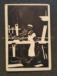 Antique Honest Tobacco Silhouette Card Negatives Pictures Trading Maid Ironing