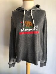 Mammoth Mountain Official Womenand039s Rare California Flag Crop Hoodie Size Small