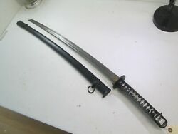 Ww2 Japanese Nco Officers Sword Matching Numbers On Blade And Scabbard P1