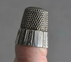 Thimble Sterling Silver Sz 12 Simon Bros Marked 19th C