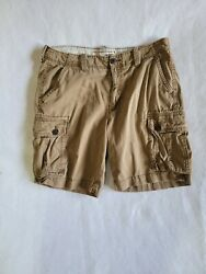 American Eagle Outfitters Mens Size 36 Beige Khaki Classic Length Cargo Shorts