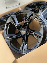 """Chevy Camaro Ss Lt1 2ss Wheels Rims Rines Gloss Black 20"""" Factory Oem Staggered"""