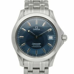 Omega Ss Wristwatch Seamaster 120 Silver Navy Mens Fashionable Itand039s No.7614