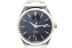 Omega Mens Seamaster Aquaterra Blue Dial Date View 150m Water No.8556