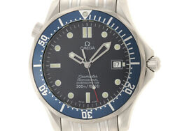 Omega Seamaster Professional 300m Waterproof Blue Stainless Steel Mens No.8667