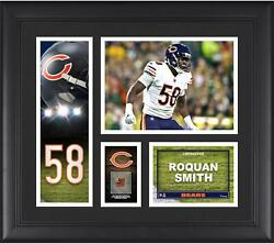 Roquan Smith Chicago Bears Frmd 15 X 17 Player Collage With A Piece Of Gu Ball