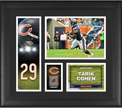 Tarik Cohen Chicago Bears Frmd 15 X 17 Player Collage With A Piece Of Gu Ball