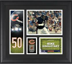 Mike Singletary Chicago Bears Framed 15 X 17 Player Collage And Piece Of Gu Ball