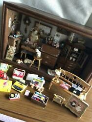 Doll House Miniatures Living Room Box Collectable Wooden Antique Rare