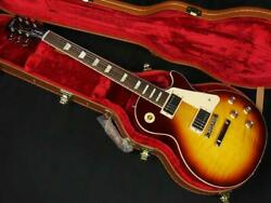 Gibson Les Paul And03960s Trapezoid Inlays Bourbon Burst Electric Guitar With Case