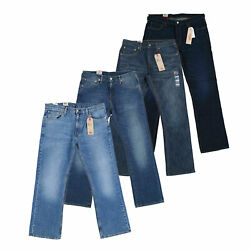 527 Mens Jeans Slim Bootcut Denim Bottoms Casual Pants Zip Fly Patch New