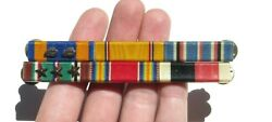 Ww2 Us Army Air Force Military Medal Ribbon Bar Wolf Brown 3/8 6 Place