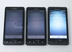 Lot Of 3 Working Motorola Droid X2 Mb870 And Droid X Mb810 Smartphones For Verizon