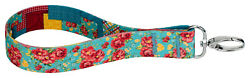 Country Brook Design® Frontier Floral Recycled Wristlet Keychain $7.95