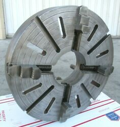 Nice 23-3/4 Independent 4-jaw Lathe Chuck W/ D1-11 Mount - 7-3/8 Bore
