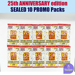 10 Sets Free Tracking Promo Card Pack S8a-p Pokemon 25th Anniversary Edition