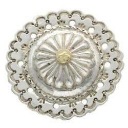 Goro's Gb14 Flower With Gold Metal Concho Silver X Gold 12.86g Hj08 No.6007