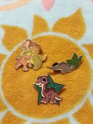 The Land Before Time Lot 3 Enamel Pins Don Bluth Little Foot Dinosaur Animation