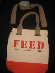 FEED Canvas Tote Bag New $34.95