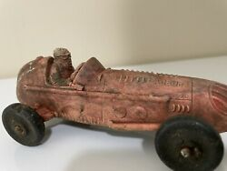 Auburn Rubber Company Vintage Indy Race Car With Driver Racing Toy 5 3/4 Long
