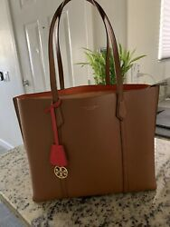 tory burch large tote leather $200.00