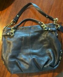Navy Leather Coach bag 14142 $98.00