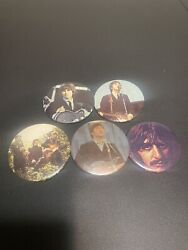 Collectible Beatles Pinback Buttons Lot Of 5 Vintage