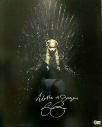 Game Of Thrones Emilia Clarke Signed 16x20 Photo Mother Of Dragons Got Beckett