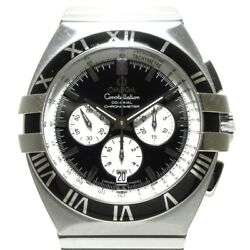 Auth Omega Constellation Double Eagle Chrono Co-axial Ss 1519.51 Mens Watch